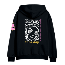 Load image into Gallery viewer, anna oop luv hoodie black