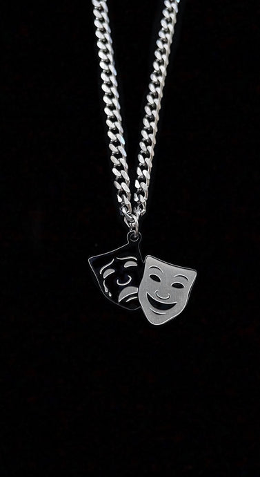 Comedy Tragedy Necklace