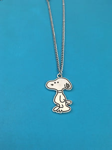 Silver Snoopy Necklace
