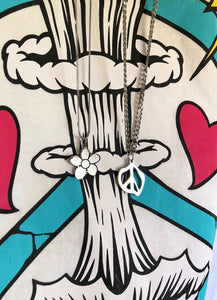 Warped Peace Necklace