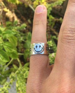 Happy Engraved Ring