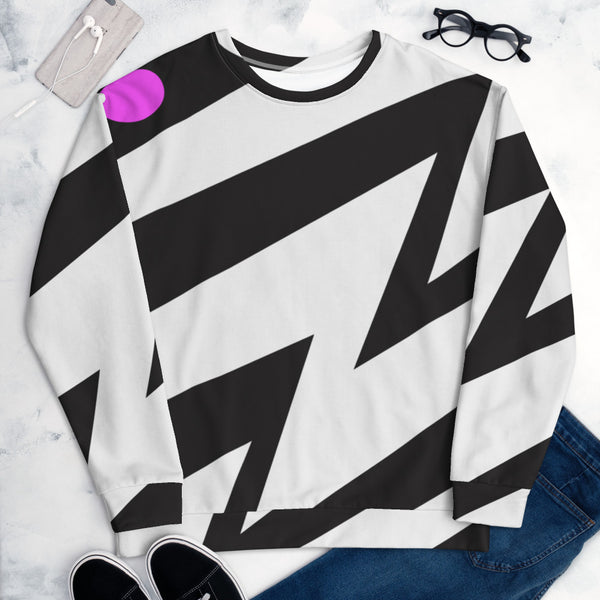 Black white and pink Sweatshirt with Zeds Dead Design