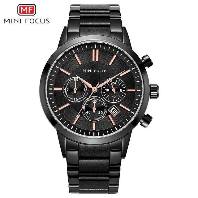 MINI FOCUS Fashion Men Watches 2019 Luxury Brand Stainless-GENERO