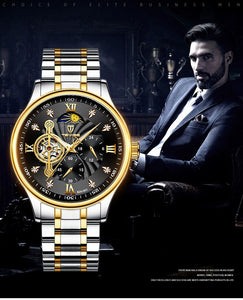 TEVISE Automatic Mechanical Watch Men Stainless