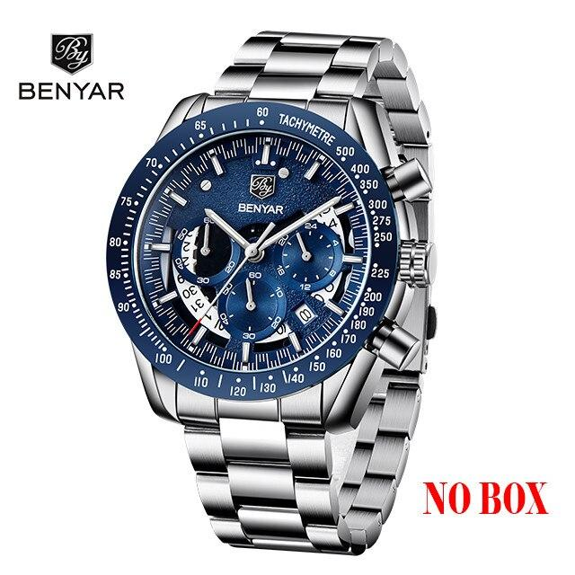 New BENYAR Men's Watches Top Brand Luxury Watch mecaquartz Spor-GENERO