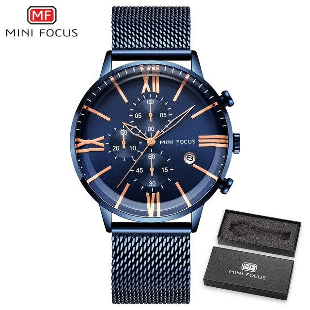MINI FOCUS Luxury Brand Men Watches Stainless Steel Men's Wristwatch-GENERO