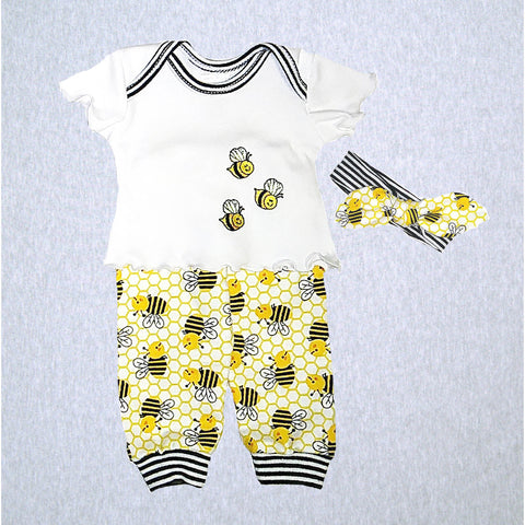 Busy Bee Shirt, Pant and Headband  #BZTP