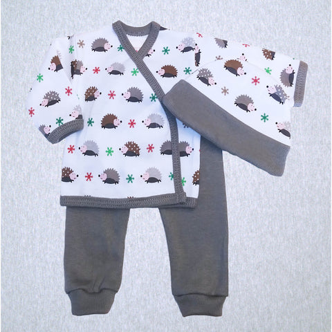 Winter Hedgehogs Shirt, Pant and Hat