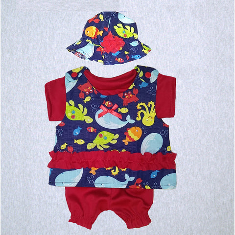 Sea Life Jumper, Shirt, Bloomer and Sunhat  #SLSH