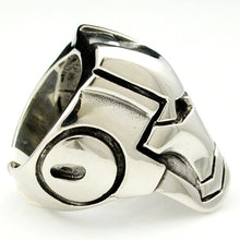 Load image into Gallery viewer, Iron Man Mask Silver Ring