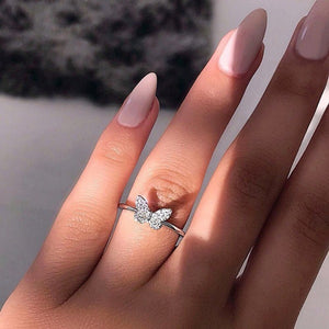 Fashion Silver Butterfly Ring