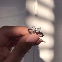 Load image into Gallery viewer, Fashion Silver Butterfly Ring