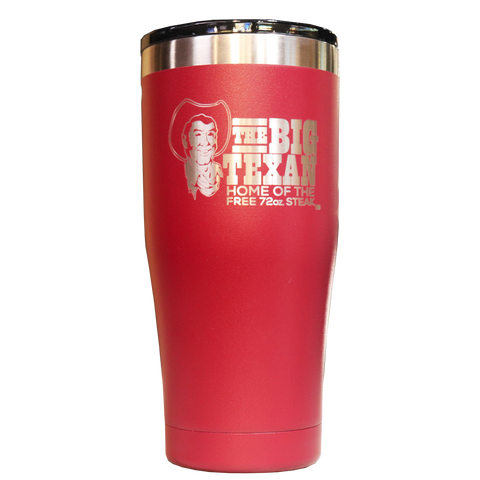 Big Texan 20 oz Tumbler - Red - Big Texan Amarillo Food Take-Out & Delivery
