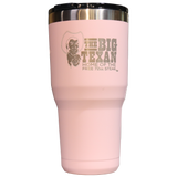 Big Texan 30 oz Tumbler - Pink - Big Texan Amarillo Food Take-Out & Delivery