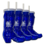 Four 72oz Steak Challenge Boot Mug - Blue