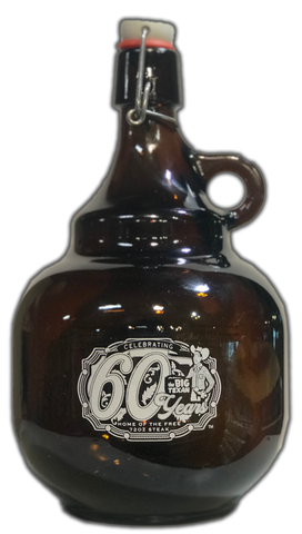 60 Year Anniversary Limited Edition Growler (Empty) - 2 Liter - Big Texan Amarillo Food Take-Out & Delivery