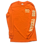 Big Texan Cowboy Long Sleeve T-Shirt Orange