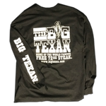 Big Texan Steak Ranch Long Sleeve Shirt-Black - Big Texan Amarillo Food Take-Out & Delivery