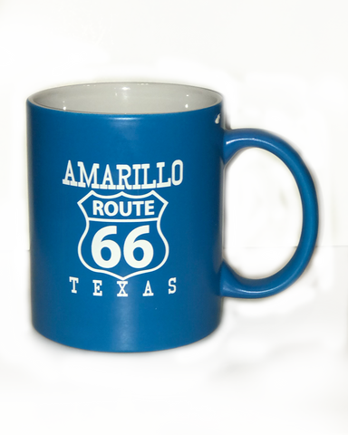 Blue Amarillo Route 66 Coffee Mug - Big Texan Amarillo Food Take-Out & Delivery