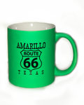 Neon Green Amarillo Route 66 Coffee Mug - Big Texan Amarillo Food Take-Out & Delivery