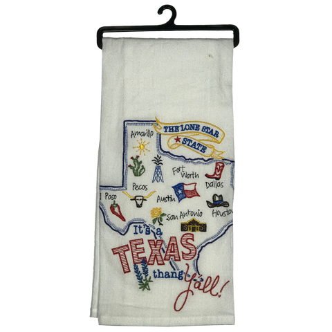 Texas Map Kitchen Towel - Big Texan Amarillo Food Take-Out & Delivery