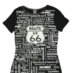 Route 66 Cities Shirt - Slim Fit Women - Big Texan Amarillo Food Take-Out & Delivery