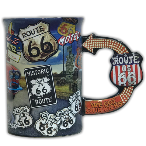 We got our kicks Route 66 Coffee Mug - Big Texan Amarillo Food Take-Out & Delivery
