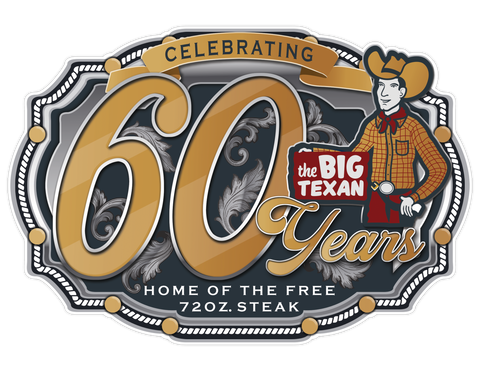 Big Texan 60 Years Sticker - Big Texan Amarillo Food Take-Out & Delivery