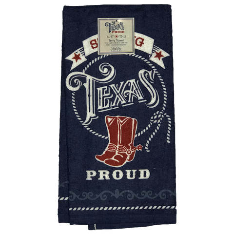 Strong Texas Proud Kitchen Towel - Big Texan Amarillo Food Take-Out & Delivery