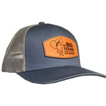 Big Texan Leather Patch - Blue Trucker Hat
