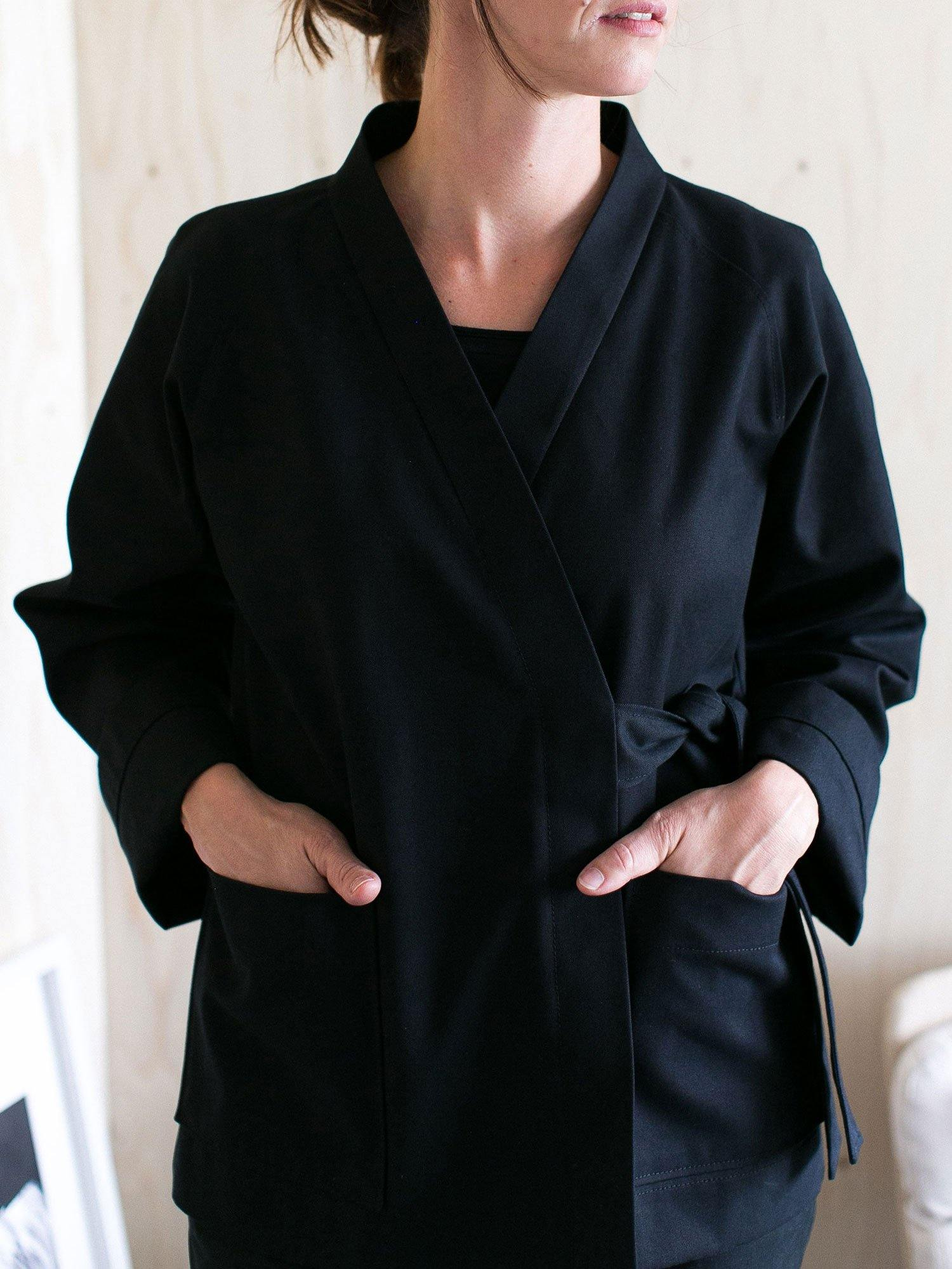 How to add the Wrap jacket neckline
