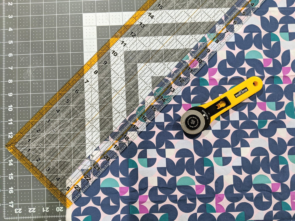 14- Rotary cutter and cutting mat with see-through ruler