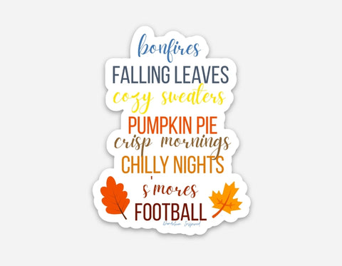 Fall Favorites Sticker (#6)