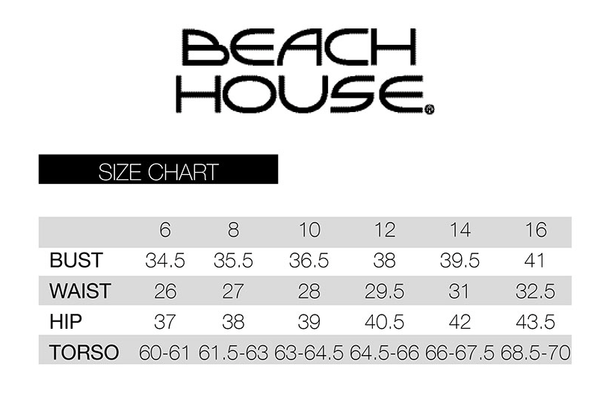 Beach House Size Chart