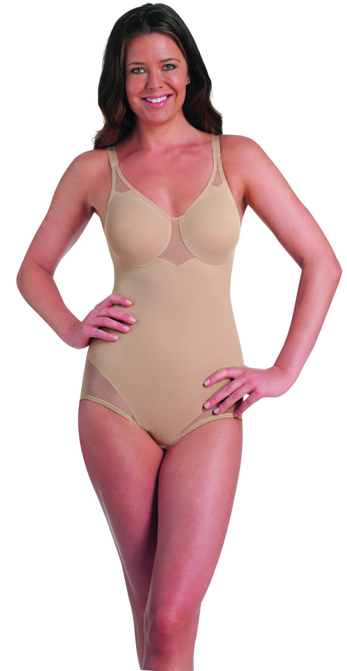 Extra Firm 'D Cup' Sheer Body Briefer