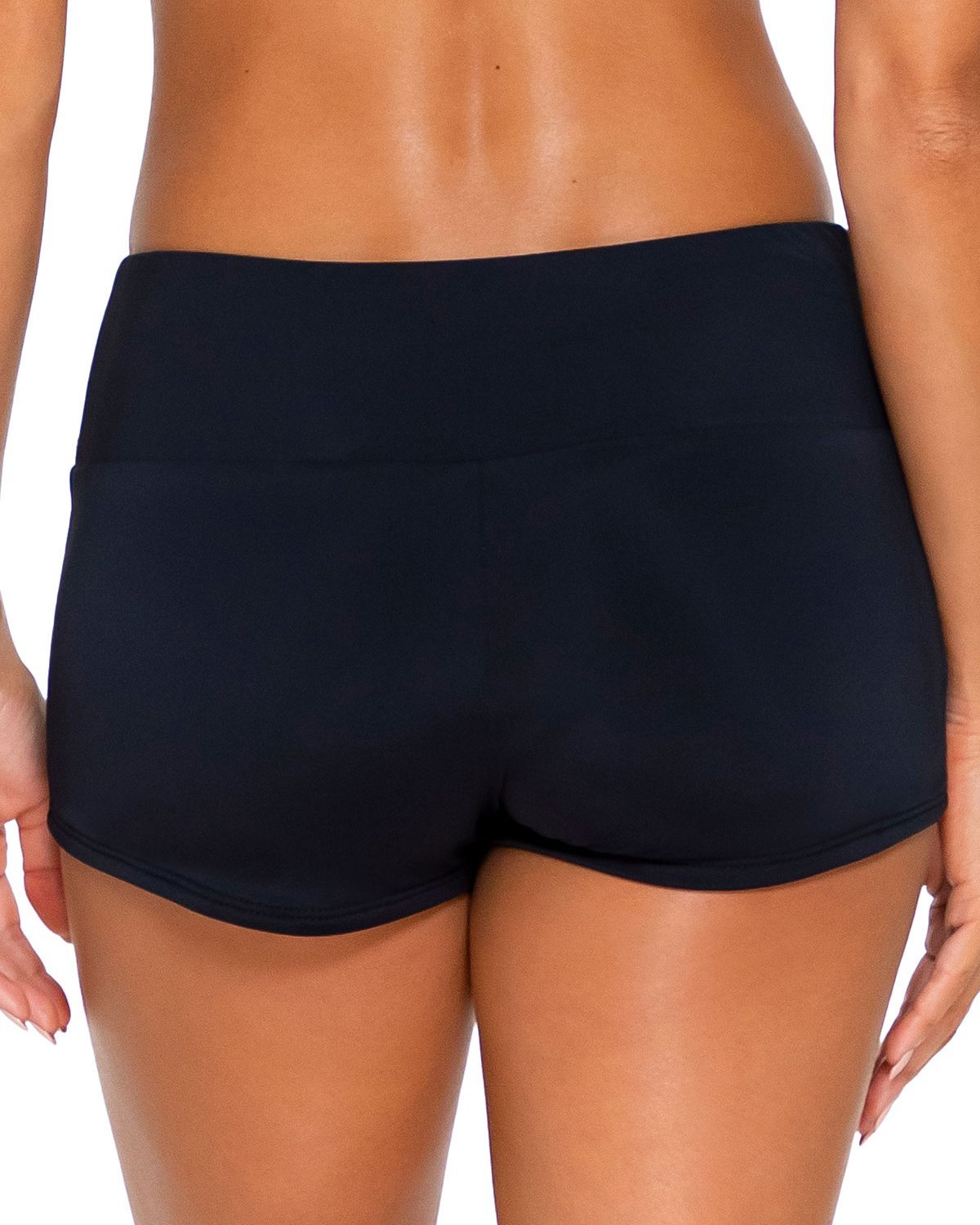 Sunsets Solids Black Seascape Swim Short
