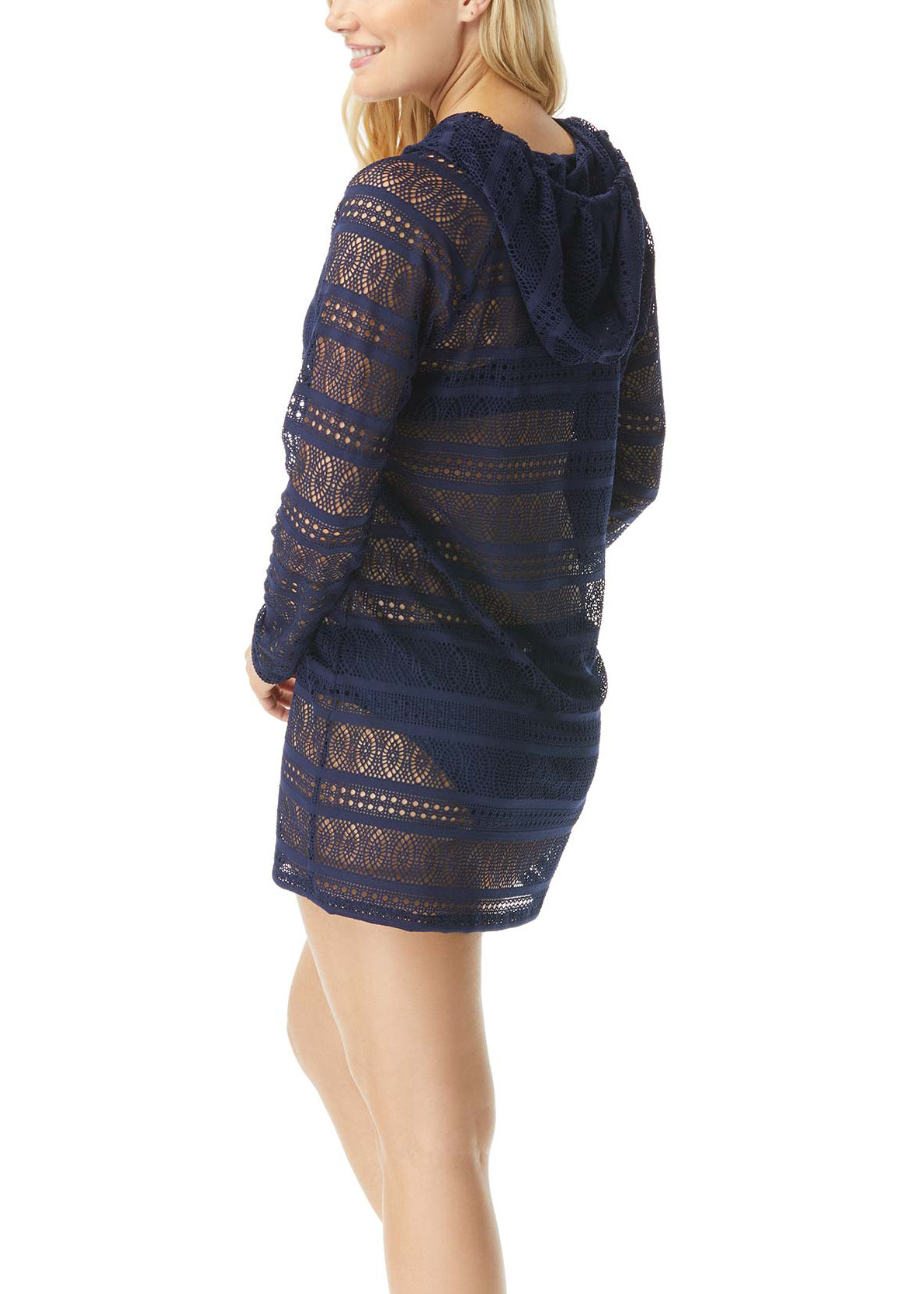 2021 Beach House Crochet and Go Indra Lace Hooded Zip-Up Cover Up