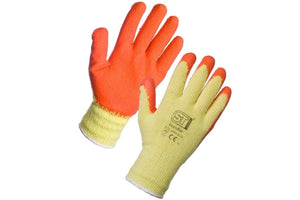 1 Pair of Grip Gloves - Breathable - Cotton & Latex - Size L