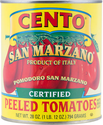 Cento Certified San Marzano Whole Peeled Plum Tomatoes 28oz