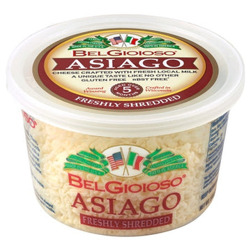 Belgioioso Asiago Cheese Shredded Cup 5oz