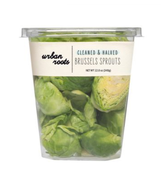 Urban Roots Cleaned & Halved Brussel Sprouts 12oz