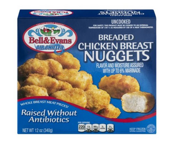 Bell & Evans Chicken Breast Nuggets, Breaded - 12 Ounces
