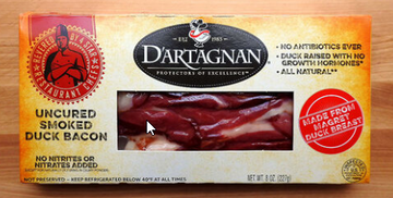 D'Artagnan Bacon, Uncured Smoked Duck - 8 Ounces