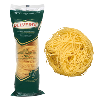 Delverde Angel Hair Pasta Tube Nests 8.8oz