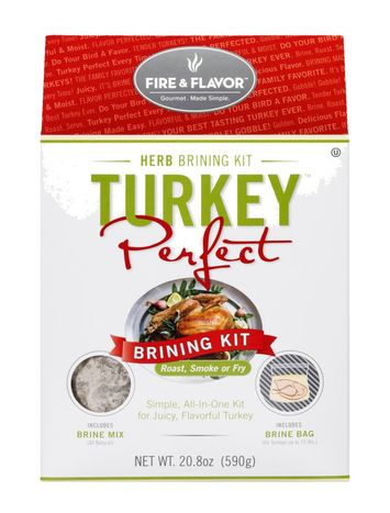 Fire & Flavor Turkey Perfect Herb Brining Kit,  - 20.8 Ounces