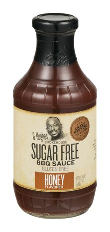 G Hughes Smokehouse BBQ Sauce, Sugar Free, Honey Flavored - 18 Ounces
