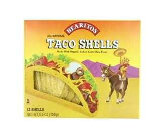 Little Bear Organics  Yellow Corn Taco Shells (12x5.5 Oz)