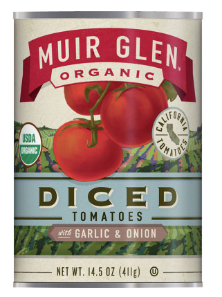 Muir Glen Organic Diced Tomatoes With Garlic and Onion- 14.5 oz.