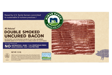 Niman Ranch Uncured Double Applewood Smoked Bacon 12oz