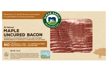 Niman Ranch Uncured Maple Bacon 12oz